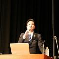 福山大学での講演の様子(学長ブログ)
