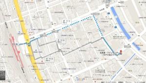 アクセスマップ(徒歩)